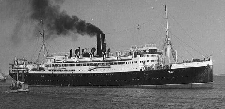 Trasatlántico MARQUÉS DE COMILLAS, hacia 1950