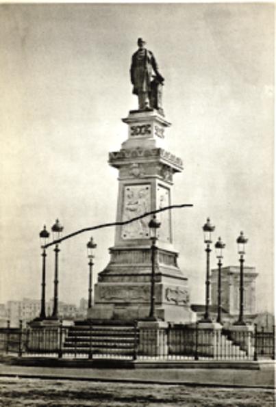 Monumento a Antonio López erigido en 1884